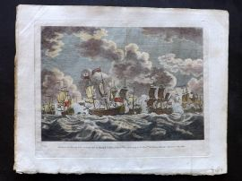 Field of Mars 1801 HC Naval Print. Defeat of the French Fleet by Edward Hawke